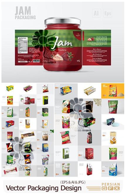 دانلود 54 قالب طرح های بسته بندی محصولات مختلف - Vector Packaging Design Templates