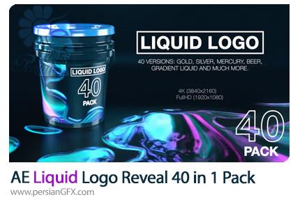 دانلود 40 قالب نمایش لوگو با افکت مایعات در افترافکت - Liquid Logo Reveal (40 in 1 Pack)