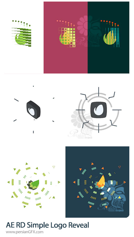 دانلود 3 پروژه افترافکت نمایش لوگو با اشکال فلت ساده - RD Simple Logo Reveal
