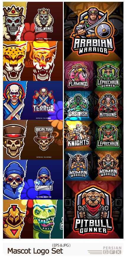 دانلود مجموعه آرم و لوگوی ماسکوت با طرح های متنوع - Mascot Logo Set