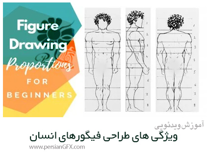 دانلود آموزش ویژگی های طراحی فیگورهای انسان - Figure Drawing Proportions