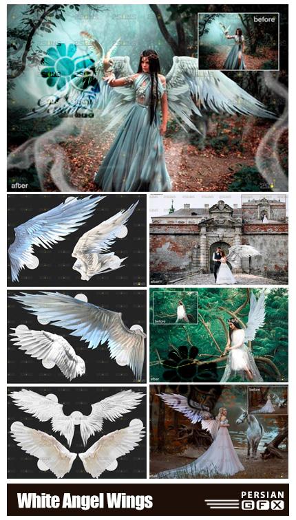 دانلود کلیپ آرت بال های سفید فرشته - White Angel Wings