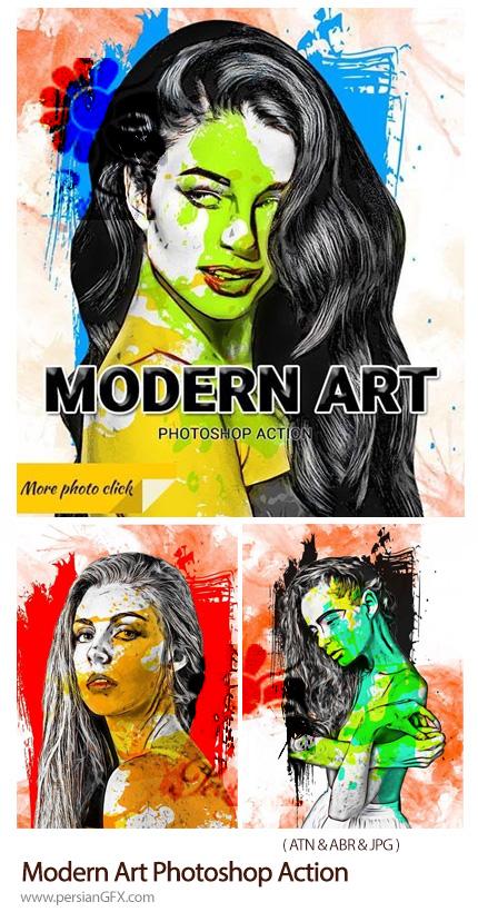 دانلود اکشن فتوشاپ ساخت تصاویر هنری مدرن - Modern Art Photoshop Action
