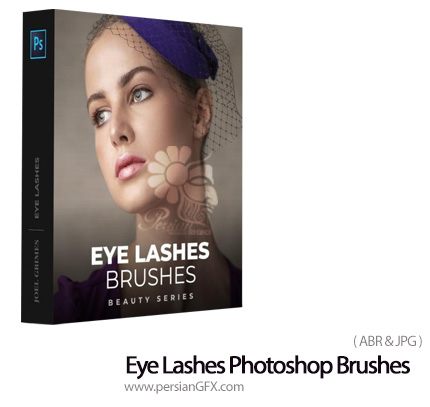 دانلود پک براش فتوشاپ مژه چشم با استایل های مختلف - Eye Lashes Photoshop Brushes