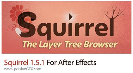 دانلود اسکریپت Squirrel برای زیر مجموعه سازی لایه ها و انیمیت کردن آن ها در افترافکت - Squirrel 1.5.1 For After Effects