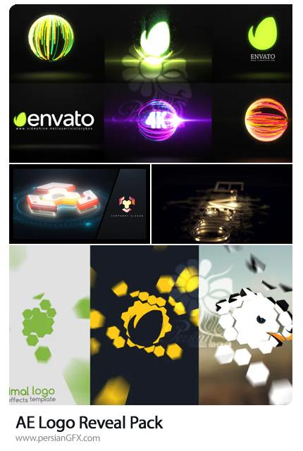 دانلود 4 پروژه افترافکت نمایش لوگو با افکت های مینیمال، نورانی، طلایی و تکنولوژی - Logo Reveal Pack