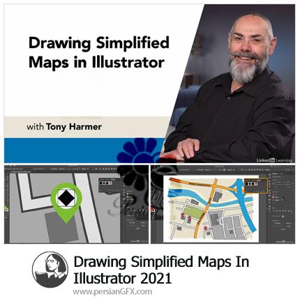 دانلود آموزش رسم نقشه های ساده در ایلوستریتور - Drawing Simplified Maps In Illustrator 2021