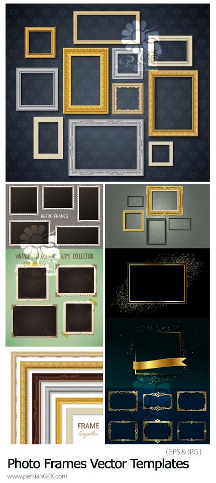 دانلود 10 وکتور فریم عکس متنوع - Realistic Photo Frames Vector Templates