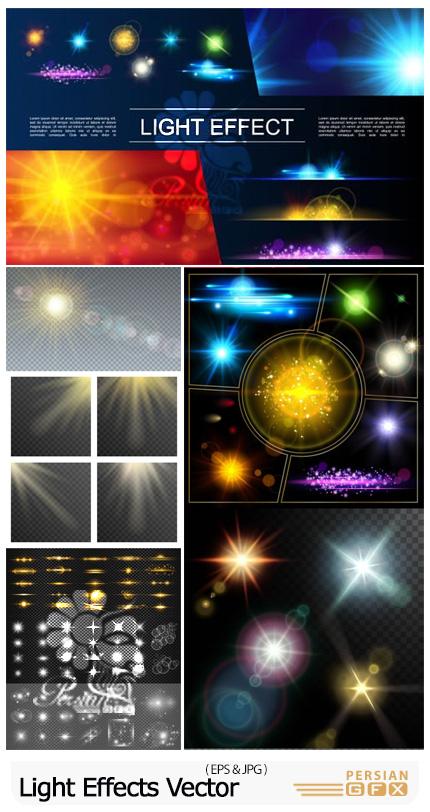 دانلود وکتور افکت های نورانی و درخشان متنوع - Light Effects Vector Templates