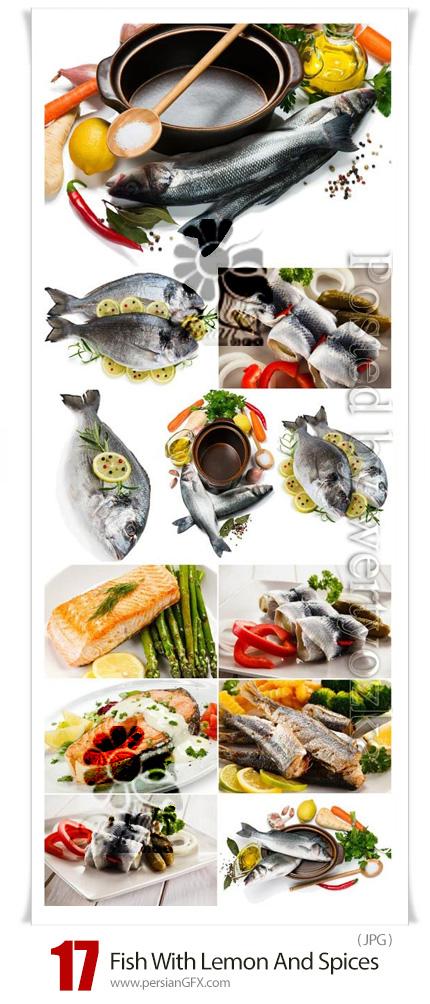 دانلود 17 عکس با کیفیت ماهی با لیمو و ادویه جات - Fish With Lemon And Spices