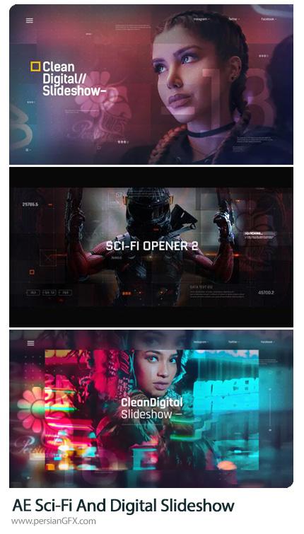 دانلود 3 پروژه افترافکت اسلایدشو دیجیتالی و علمی تخیلی - Sci-Fi And Digital Slideshow