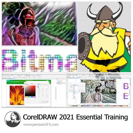 دانلود آموزش نکات ضروری کورل دراو 2021 - CorelDRAW 2021 Essential Training
