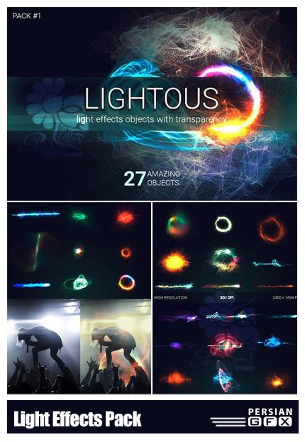 دانلود کلیپ آرت افکت های نورانی با اشکال خاص - Light Effects Pack