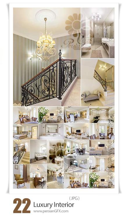 دانلود 22 عکس طراحی داخلی لوکس آشپزخانه، اتاق خواب، حمام و دستشویی و ... - Luxury Interior