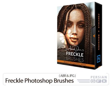 دانلود مجموعه براش فتوشاپ کک و مک صورت - Freckle Photoshop Brushes