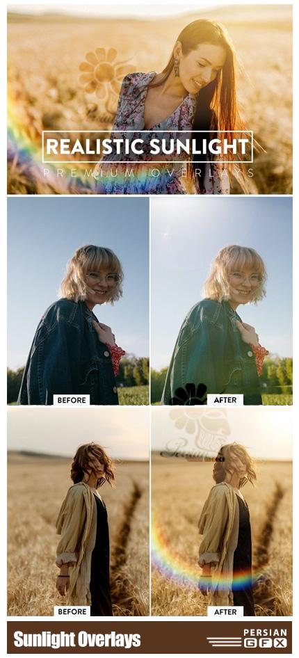 دانلود 60 تصویر پوششی تابش نور واقعی - Realistic Sunlight Overlays