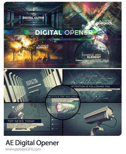 دانلود 2 پروژه افترافکت اوپنر و پرومو تبلیغاتی با افکت دیجیتالی - Digital Opener