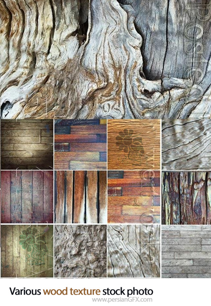 دانلود تصاویر با کیفیت طرح و تکسچر چوب - Various wood texture stock photo