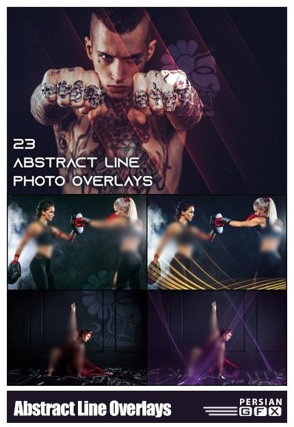 دانلود 23 تصویر پوششی خطوط انتزاعی به همراه اکشن فتوشاپ - Abstract Line Photo Overlays