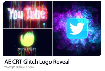 دانلود پروژه افترافکت نمایش لوگو با افکت گلیچ - CRT Glitch Logo Reveal