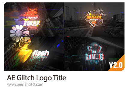 دانلود پروژه افترافکت نمایش لوگو و تایتل با افکت گلیچ به همراه آموزش ویدئویی - Glitch Logo Title