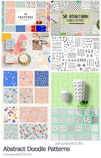 دانلود پترن وکتور و فتوشاپ با طرح های دودل انتزاعی - Abstract Doodle Patterns