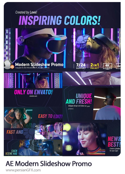 دانلود پروژه افترافکت پرومو اسلایدشو مدرن - Modern Slideshow Promo