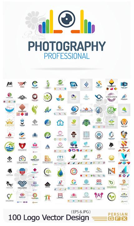 دانلود 100 وکتور آرم و لوگو با طرح های متنوع - Bundle Logo Vector Design